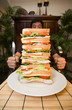 Man and Giant Sandwich