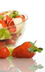 Fruit salad with strawberry