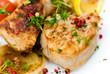 Filet vom Schwein,gebraten - mit Pilz,Salat 8