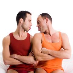 Homo couple sticks tonque out