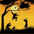 roleta: ninja silhouettes