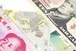 Different banknotes - closeup