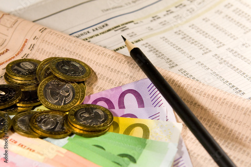 Currency, euro, roubles, quotations, rating
