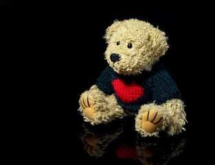 Teddy Bear With Black Background
