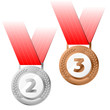 Vector silver and bronze medals