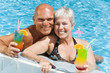 relaxed mature couple enjoying summer holidays