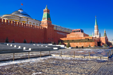 Red square and the mausoleum