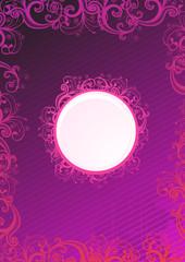 Floral pink frame