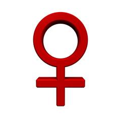 Red female sex symbol.