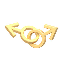 Gold gay sex symbol.