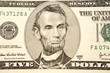 American five dollar banknote detail