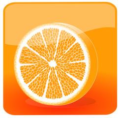 Fresh orange half illustration
