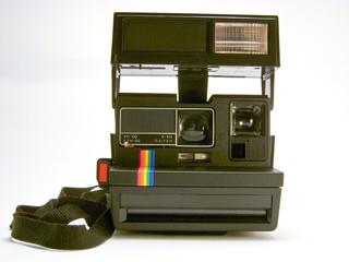 Black instant photo camera