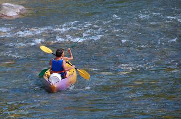 couple en canoe kayak