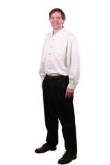 Handsome business man standing