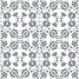 Grey floral seamless wallpaper
