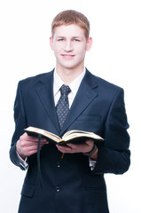 Young man with Bible