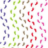 traces de pas multicolores ondulées