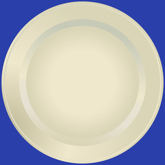 Old-fashioned white plate (vector)