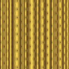 Golden striped floral  background