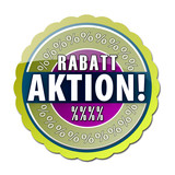 Rabattaktion! Button