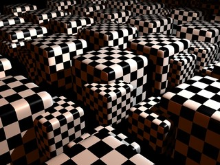 chess cubes, abstract backdrop