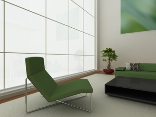 Modern green interior