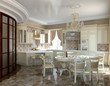 Classical kitchen and dining room
