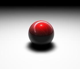 sfera rossa appoggiata