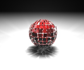sfera rossa esplosa