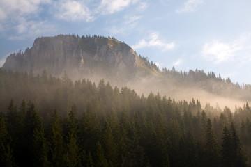 Hasmas Mountains, View from Lacul Rosu, Harghita,Romania