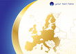 Business background wint European union map