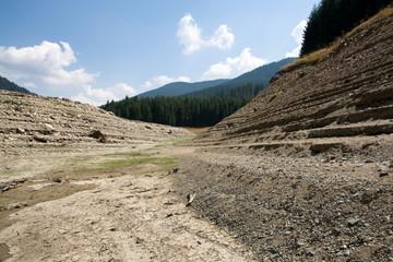 Reservoir Vidra, Drought