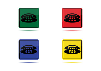 Telephone Icon (4 Color Variations)