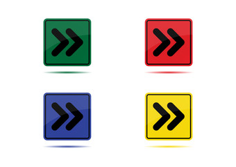 Fast Forward icon (4 Color Variations)