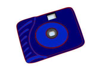 The blue disposable film camera