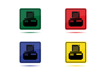 Printer Icon (4 Color Variations)
