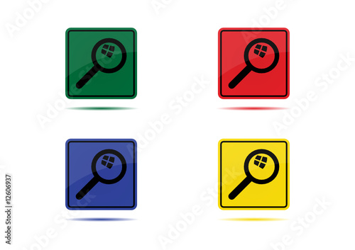 Search Icon (4 Color Variations)