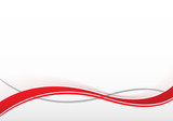 Fototapety Hintergrund mit roten Schwüngen