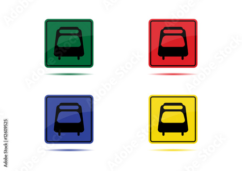 Train Icon (4 Color Variations)