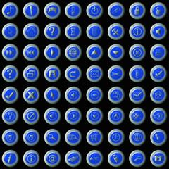 botones web azules