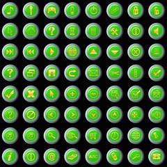 botones web verdes