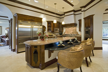 Dining Space on Kitchen Island