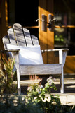 Weathered Adirondack Chair on Porch