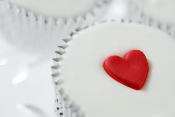 Cupcake with Heart Frosting