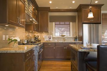 Traditional Kitchen with Tiled Backsplash