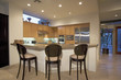 Stools at Counter of Contemporary Kitchen