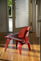 Red-Stained DCW Chair