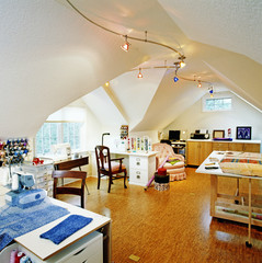 Sewing and Craft Workroom in Attic Space