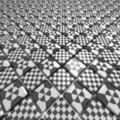 patterned cubes surface